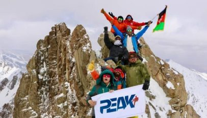 First women climb Foladi peak of Koh-e-Baba mountain