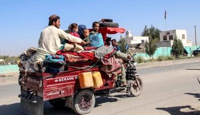 Helmand families flee homes in Lashkargah
