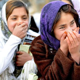 Afghan girls from Ghazni province.