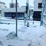 融雪道路おいついてませーん‼️