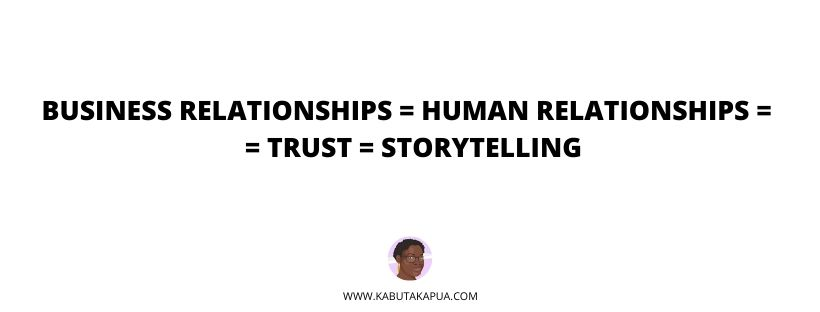 From strangers to partners: how to use storytelling to build strong business relationships KABUTAKAPUA Beatrice Ngalula blog post
