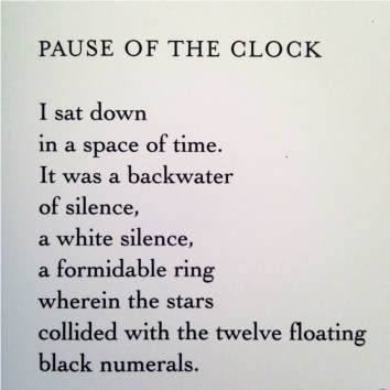 """Pause of the Clock"" by F. G. Lorca"