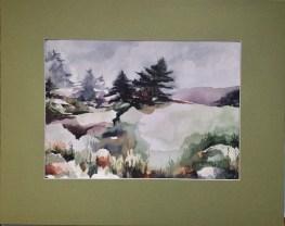 """""""La pioggia nel pineto"""" Watercolor on paper 10""""x14"""" 2018"""