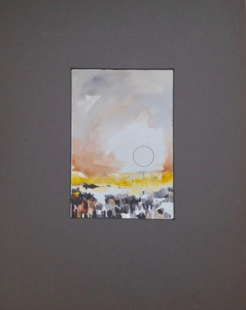 """""""L'alba separa dalla luce l'ombra"""" Watercolor on paper 10""""x7"""""""