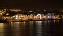 Douro embankment by night