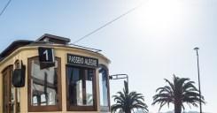 old tram to Passeio Allegre