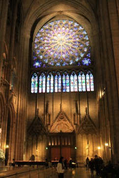 Stainless Glass windows inside the Notre Dame