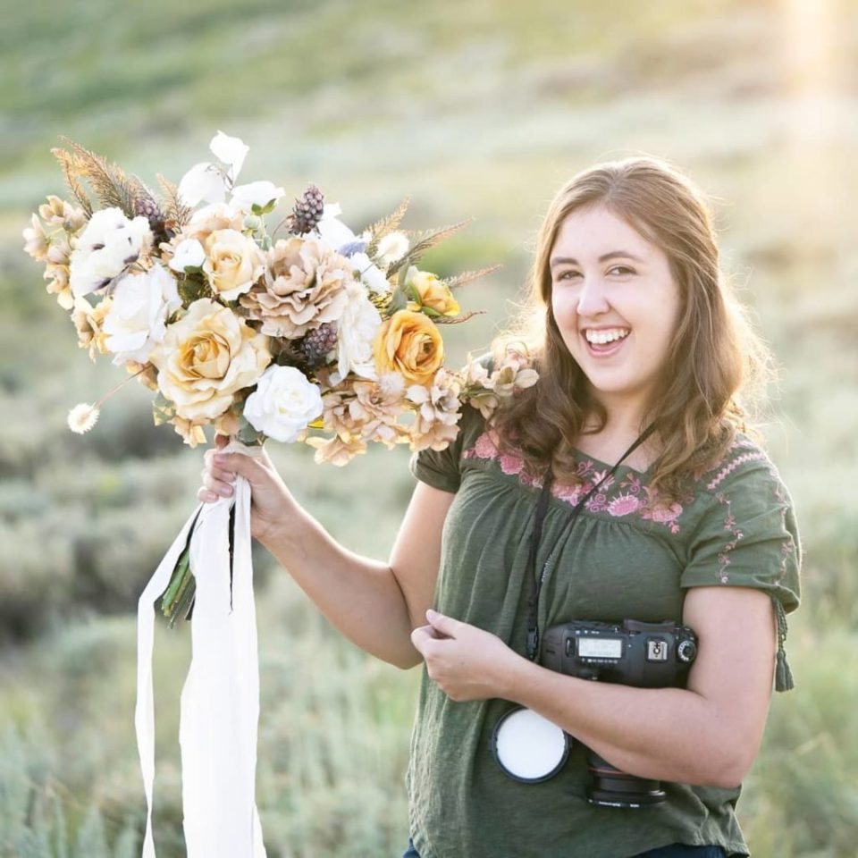 Kaci Lou of Kaci Lou Photography, behind the scenes wedding photographer.
