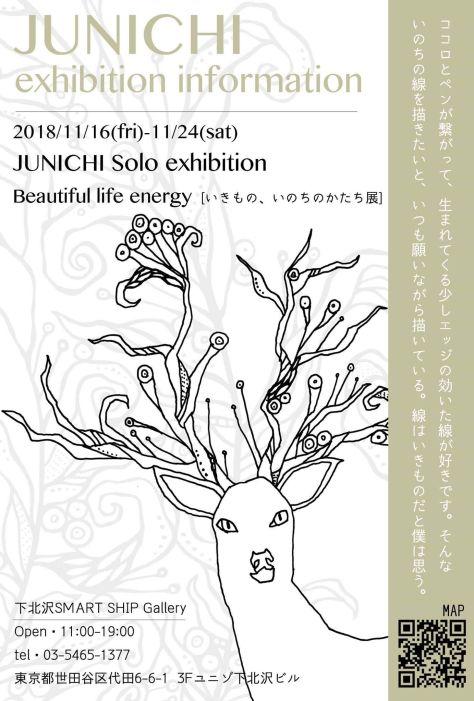 """11/16 Fri 東京下北沢 ドローイングアーティストJUNICHI """"いきもの、いのちのかたち展"""""""