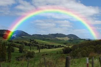 rainbow and meditation on emptiness