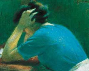 anxious woman