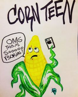 Cornteen cartoon