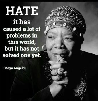 hate hasn't solved problems