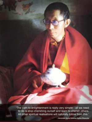 Geshe-la with bowl in Tibet