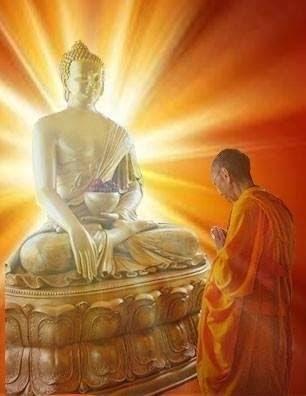 Geshe-la with Buddha
