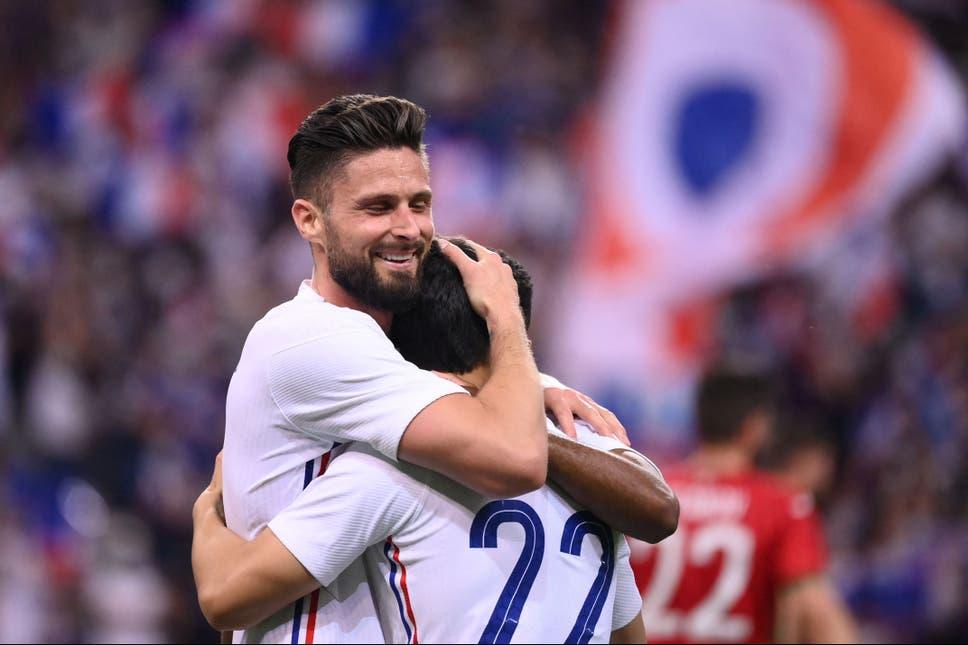 जिरुको दुई गोलमा फ्रान्स विजयी