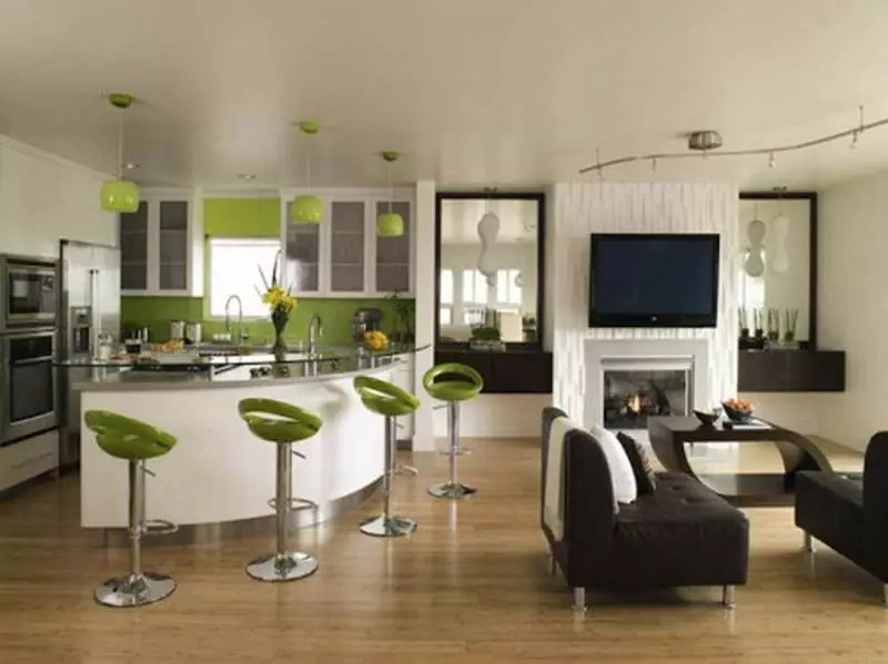 Teal-Home-Accents-Decorating-Ideas-with-green-chairs