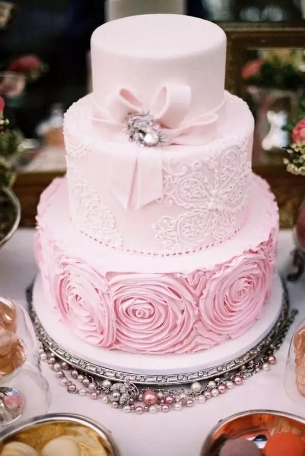 004d10383d8ee6a534d8e2fb07b03d05--pink-summer-wedding-pink-wedding-cake