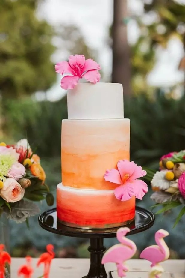 8517795ea8ee1aa1fc188f9f774f63f4--wedding-cake-summer-wedding-cake-tropical