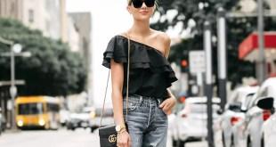 tek omuzlu bluz trendi