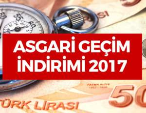 Asgari Geçim İndirimi (AGİ) 2017