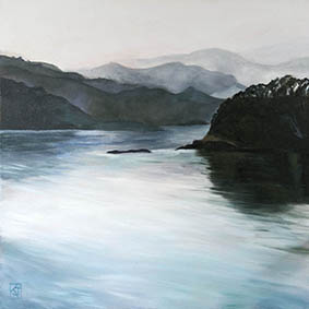 landscapes,kadira jennings,coromandel peninsula,new zealand,hills,misty-hills,colville,Mysterious Waters