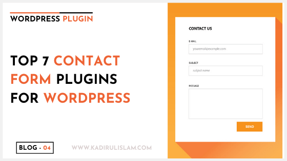 Top 7 contact form plugin for WordPress – 2020