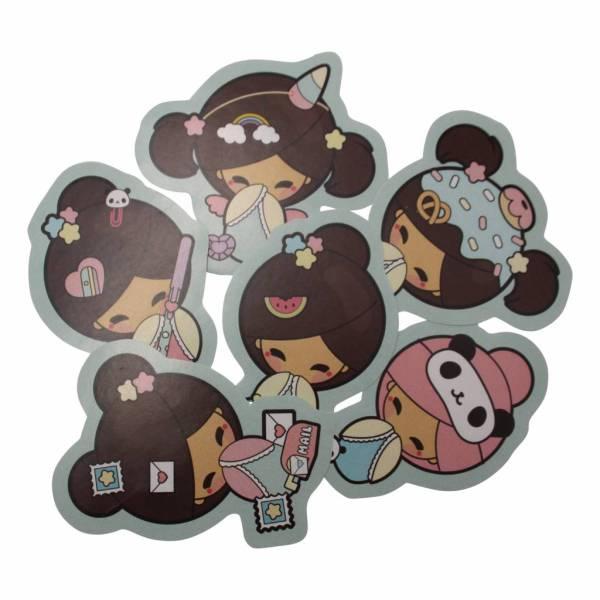Chickawaii Kokemi dolls - stickers set