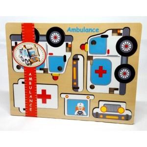 Houten puzzel Ambulance