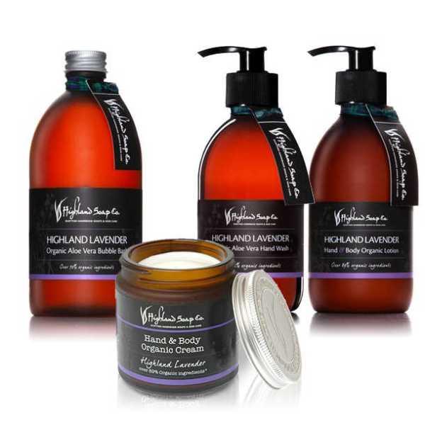 Highland Soap Co. Vloeibare Handzeep Highland Lavendel 300ml, pomp
