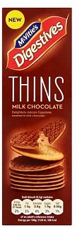 Mcvities Digestive Mcvities Digestive - Thins Milk Chocolate 180 Gram