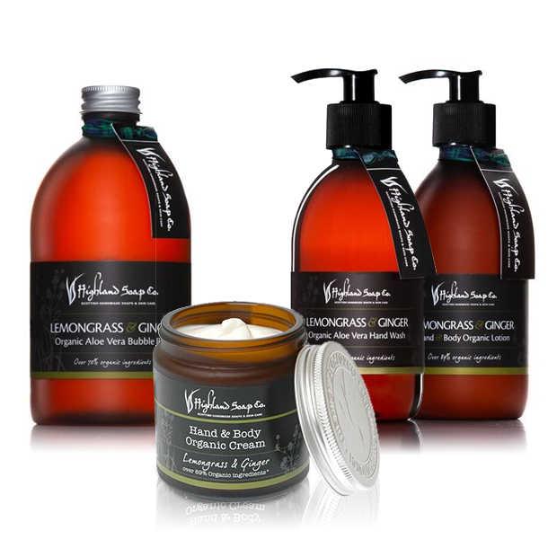 Highland Soap Co. Aloë Vera Shampoo Citroengras & Gember 250 ml, pomp