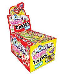 Overige Johny Bee - Monster Gum + Tattoo 5 Gram 200 Stuks