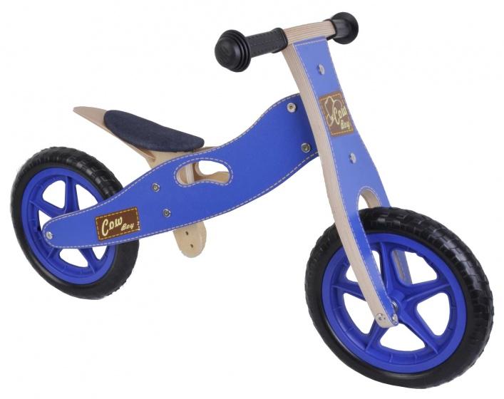 Yipeeh houten loopfiets 12 Inch Jongens Blauw