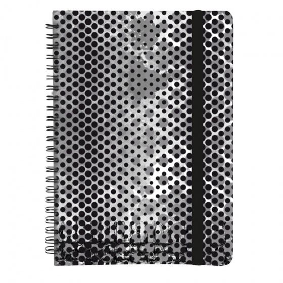 Dresz notitieboek Graphic A5 80 pagina's zwart/grijs