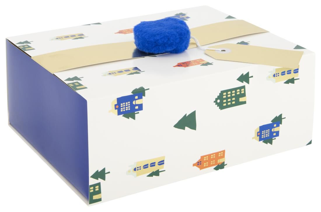 Cadeaudoos 23x18x9 - Huisjes