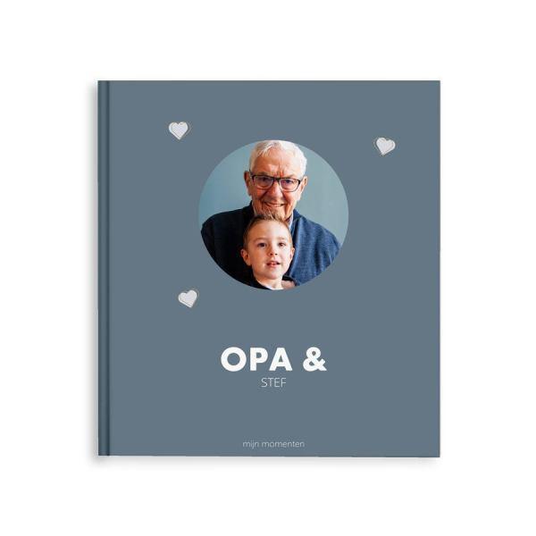 Momenten fotoboek maken - Opa & ik/wij - M - Hardcover - 40 pagina's
