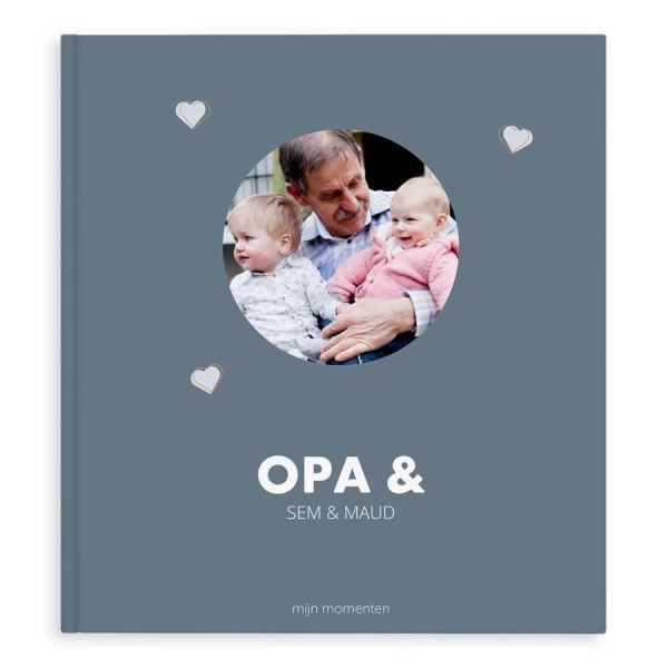Momenten fotoboek maken - Opa & ik/wij - XL - Hardcover - 40 pagina's