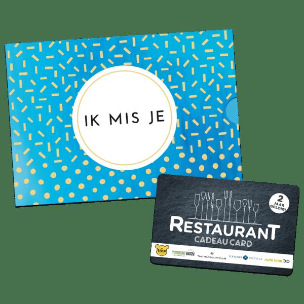 Restaurant Cadeau Card - Ik mis je