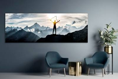 Foto op aluminium 30x100 cm