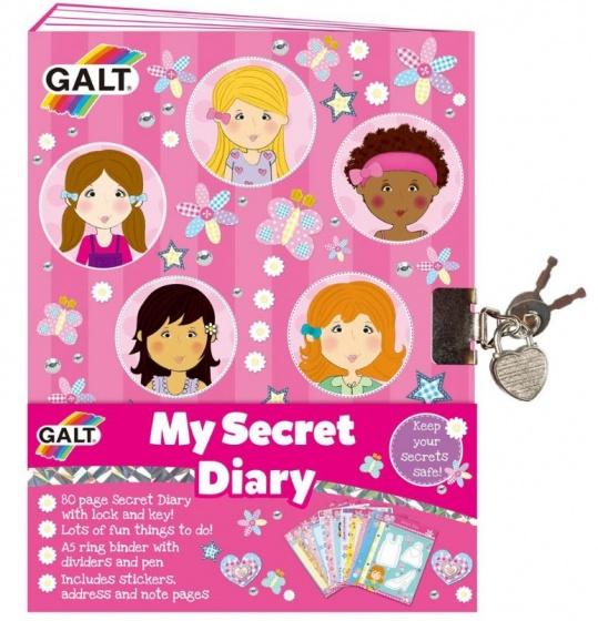 Galt mijn geheime dagboek met slotje (en) 31 cm roze