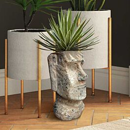 Moai Paaseiland Bloempot - 30 cm