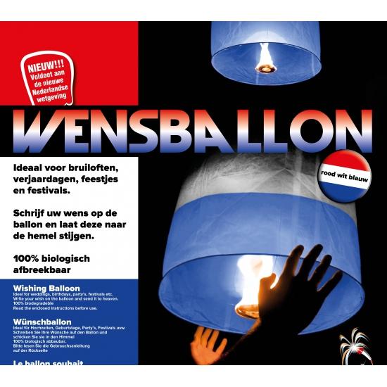 Rood wit blauwe wensballonnen