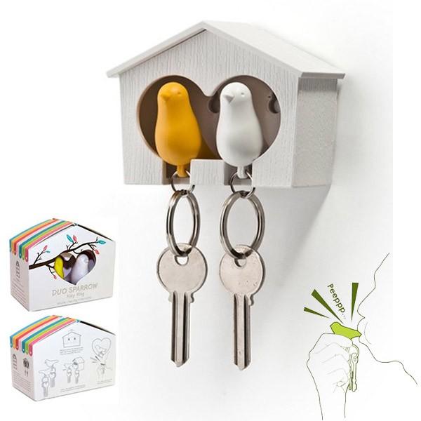 Sparrow sleutelhouder Duo (wit-zwart)