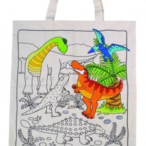 Goki Draagtas Met Dino's Om Zelf Te Beschilderen 38 X 42 cm