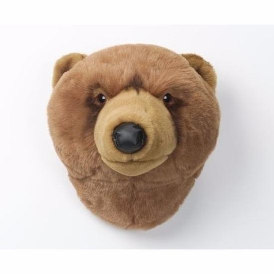 Bruine beer nep jachttrofee kinderkamer wanddecoratie 30 cm