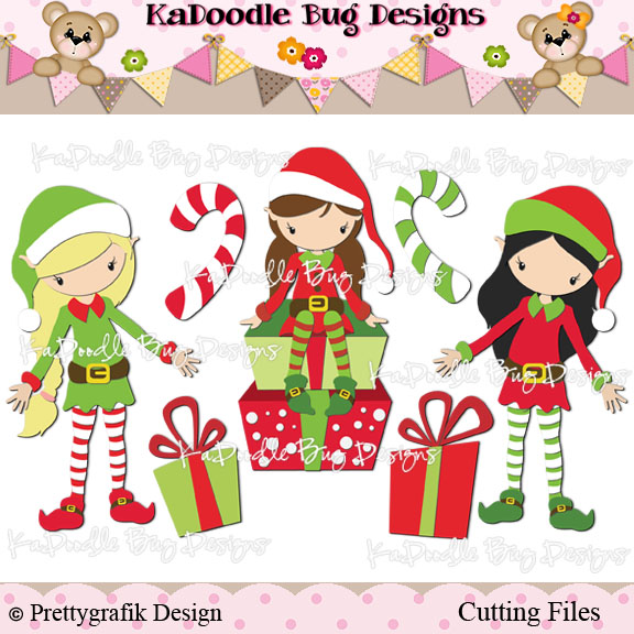 Elf Girls 100 Kadoodle Bug Designs Cut Files