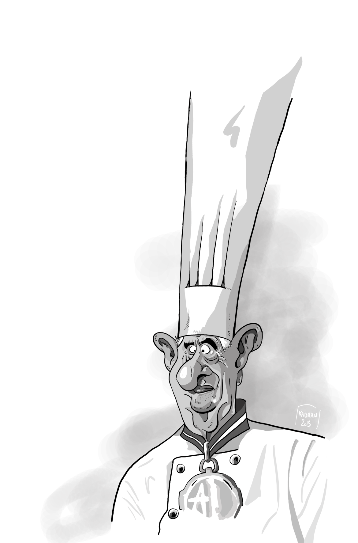 Caricature du Chef Paul Bocuse