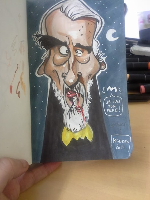 Christopher lee caricature 03