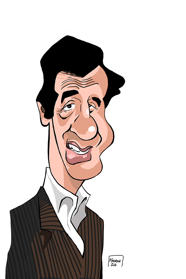 Jean Paul Belmondo caricature